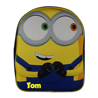 Minions Eyes Officially Licensed Backpack- Personalised Plain Presents School