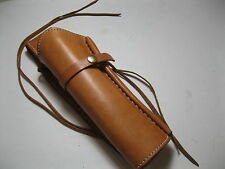 "Western Holster - 8""  Barrel - Left Handed - Natural - Smooth - Leather"