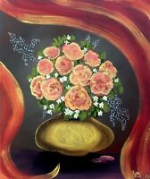 """Pink Roses"" - Art, Painting, Giclee on Canvas 24""x20"" LTD by Yelena Berzon"