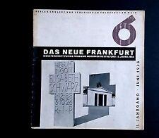 DAS NEUE FRANKFURT Journal No 6 1928 BAUHAUS Wili Baumeister Ernst May Modernism