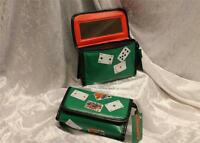 CARD GAME POKER CASINO fan MAKEUP COSMETIC BAG gift case purse waterproof MIRROR