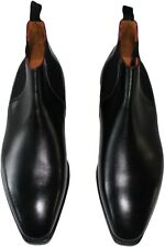 CORTHAY BLACK LEATHER CHELSEA SIZE 9.5- MADE IN FRANCE