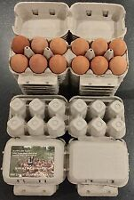 108 HALF DOZEN ECONOMY 'FLAT TOP' EGG BOXES SUITABLE FOR LABELS  UP TO LRG EGGS