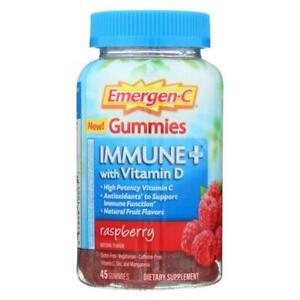 Emergen-C Gummies Immune + Plus With Vitamin D, C, Zinc Raspberry 45 ct 4/2022