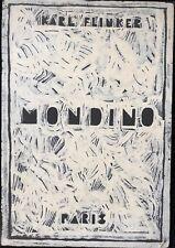 ALDO MONDINO A LA GALERIE KARL FLINKER 1980