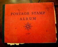 CatalinaStamps: Postage Stamp Album, 1930's, 636 Stamps, D69