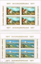 1977 Roemenië  blokken 141-142 Intereuropa