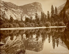 "Eadweard Muybridge Photo, ""Mirror Lake With Reflections, Yosemite"" 1872"