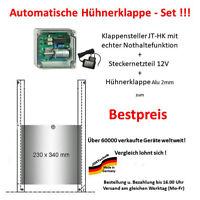 automatische Hühnerklappe JT-HK + Klappe/Schieber mit echter Nothaltfunktion!