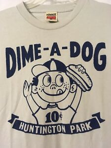 Homage Of Columbus Ohio Dime A Dog Clippers T-Shirt Retro 10¢ Huntington Park M