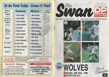 Sep 88 SWANSEA CITY v WOLVES autographed