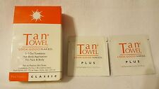 TanTowel Self-Tan Towelette - Half Body Application Classic - Lot of 5 +Bonus