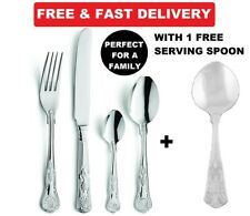 72 Pcs STAINLESS STEEL  SUPREME QUALITY Kings CUTLERY DINING SET FOR HOTEL& cant