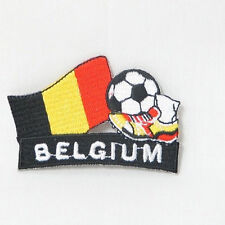 BELGIUM SOCCER FOOTBALL KICK COUNTRY FLAG EMBROIDERED IRON-ON PATCH CREST BADGE