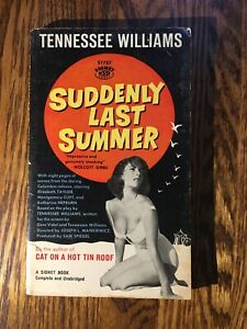 SUDDENLY LAST SUMMER by Tennessee Williams 1960 Signet FIRST PRINTING paperback