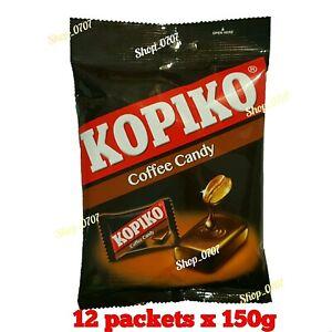 12 Packets x 150g  KOPIKO Coffee extract hard Candy / Sweet