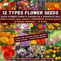 FLOWER 6000 Seeds 25pks COTTAGE ROCKERY spring summer garden HEDGE GROUNDCOVER