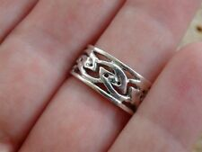 Sterling Silver Celtic Knotwork Eternity Ring