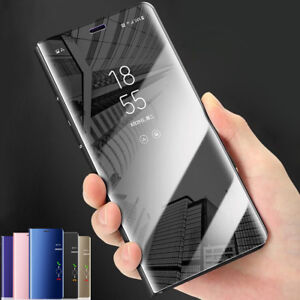 Clear View Case for Huawei P20/P20 Lite/Pro Mirror Flip Leather Stand Cover Skin