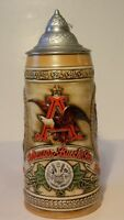 """BUDWEISER """"B"""" Series - Illustrates brewing process from 17th Cent., Lidded Stein"""