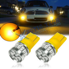 Amber 2825 W5W LED Parking Driving Light Bulbs for Mini Cooper R56 Clubman R55
