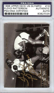 Floyd Patterson Autographed 1996 Upper Deck US Olympic Card #16 PSA/DNA 83827034