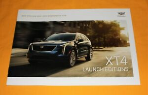 Cadillac XT4 Launch Edition 2019 Prospekt Brochure Prospetto Catalog Folder