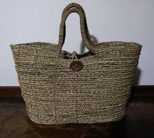 Natural Sisal Hemp Rope BOHO Market Tote Handbag Basket Coconut Button Africa
