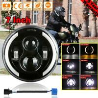 """DOT 7"""" inch LED Projector Motorcycle Headlight Round For Harley Cafe Racer"""