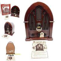 Vintage GE General Electric Replica Cathedral Radio In Box AM FM Wood 7-4100JA