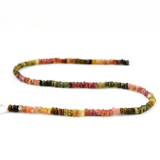 66.00 Cts / 13 Inches Earth Mined Drilled Watermelon Tourmaline Beads Strand