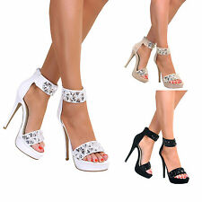 Leather Stiletto Prom Shoes for Women