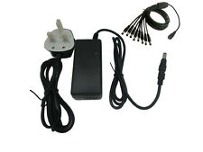 12V 6A (72W) UK ADAPTER Power Supply for CCTV Cameras + 8 Way DC Splitter Cable