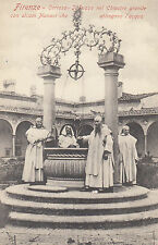 FLORENCE (Italy) : Certosa - Monks around a well-PINEIDER