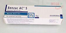 15 g. Benzac AC Gel Benzoyl Peroxide 5% ANTI ACNE Treating acne problem Galderma