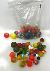 Vintage Big Lot Of Rubber Super Bouncy Balls & Marbles- Various Styles