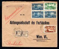 Lebanon - 1933 Registered Cover to Vienna, Austria, Beirut Postmarks