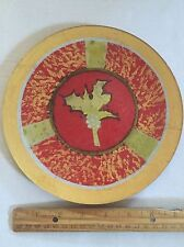 Hand Painted Plate S Ward Artist Red Gold Leaf Beautiful Serving Wall