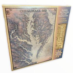 Chesapeake Bay 500 Pc Jigsaw Puzzle 1992 Terry Moore Heritage Waterways 16x20