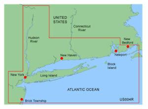 GARMIN BLUECHART NEW YORK MUS004R DATA CARD MARINE MAP NAVIGATION CHART CHIP