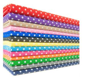POLYCOTTON POLKA DOT FABRIC - various colours 1/2 metre & metre - UK SELLER