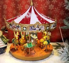 MONDO CARILLON GIOSTRA BABBO NATALE RENNE CAROSELLO CHRISTMAS CAROUSEL CHRISTMAS