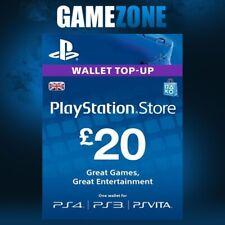 £20 PlayStation PSN Card GBP Wallet Top Up   Pounds PSN Store Code PSN PS4 PS3