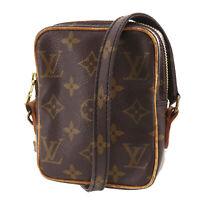 LOUIS VUITTON Mini Danube Shoulder Bag Monogram Brown M45268 Vintage Auth #TT542