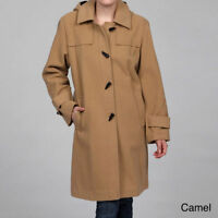 Stephanie Mathews  Wool-blend Toggle Coat Camel S NEW