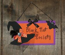 "Halloween ""Black Hat Society"" Foam Wall Hanging/Magnet, Made in the USA"
