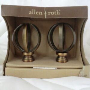 allen + roth Rod Finials Pewter Curtain 2 piece set Rod Finials