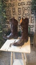 Womens Old Gringo Tyler Floral Embroidered Brown Leather Western Boots 7 B $500