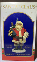 """Santa Claus Christmas Centerpiece Hand Crafted Paper Mache 11 3/4"""" Tall Rare"""