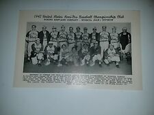 Boeing Airplane Company Wichita Kansas 1942 Baseball Team Picture Woody Jensen